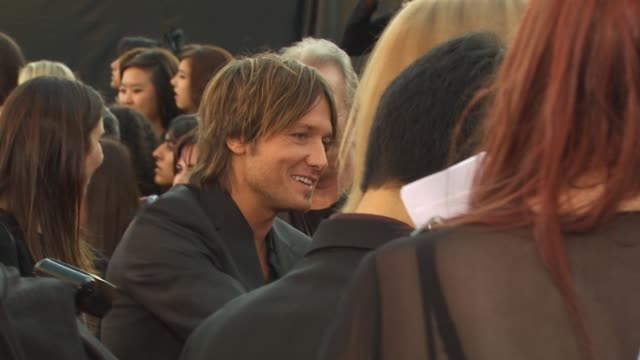 keith urban at the 2009 american music awards - arrivals at los angeles ca. - keith urban stock videos & royalty-free footage