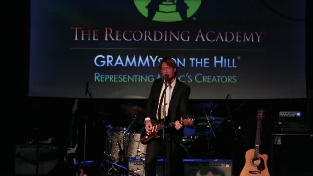 Keith Urban fourtime GRAMMY winner performs after receiving the Recording Artists' Coalition Award at The Hamilton LIVE Washington DC USA on...