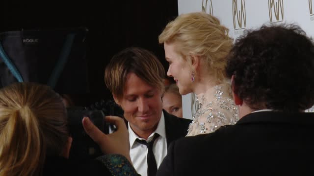 keith urban, nicole kidman at 28th annual producers guild awards in los angeles, ca 1/28/17 - keith urban stock videos & royalty-free footage