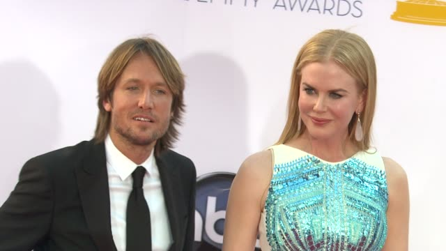 keith urban, nicole kidman at 64th primetime emmy awards - arrivals on 9/23/12 in los angeles, ca. - keith urban stock videos & royalty-free footage