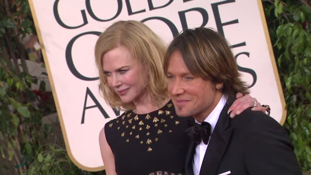 keith urban, nicole kidman at 70th annual golden globe awards - arrivals 1/13/2013 in beverly hills, ca. - nicole kidman stock videos & royalty-free footage