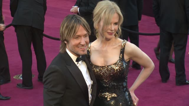 keith urban nicole kidman at 85th annual academy awards arrivals on 2/24/13 in los angeles ca - nicole kidman stock videos & royalty-free footage