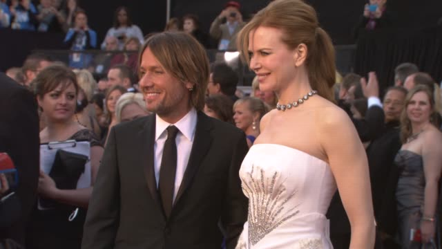 keith urban, nicole kidman at the 83rd annual academy awards - arrivals pool cam at hollywood ca. - keith urban stock videos & royalty-free footage