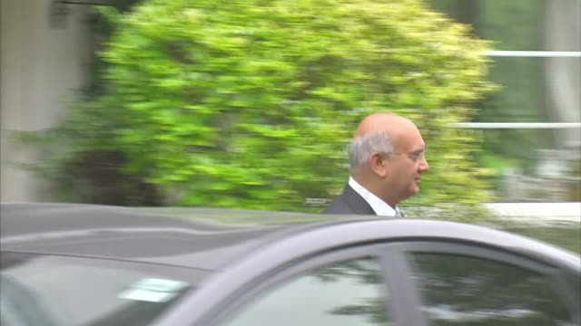 Keith Vaz leaving his home after the male escort scandal