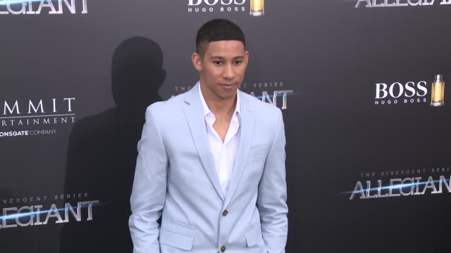 keiynan lonsdale at allegiant new york premiere at amc loews lincoln square 13 theater on march 14 2016 in new york city - amc loews stock videos and b-roll footage