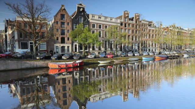 keizersgracht canal, amsterdam, netherlands, europe - amsterdam stock videos & royalty-free footage