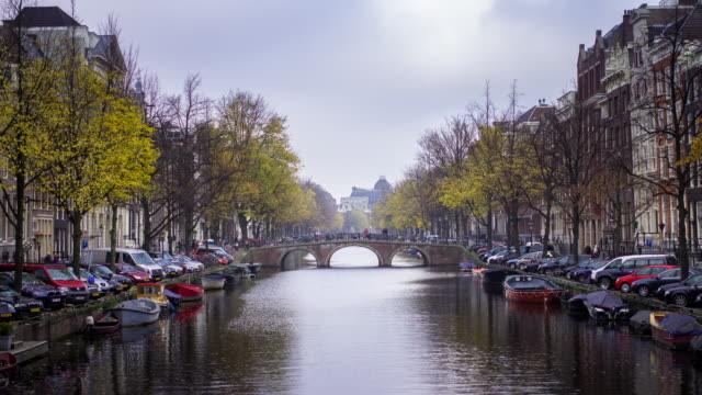 keizersgracht canal, amsterdam timelapse - canal stock videos & royalty-free footage