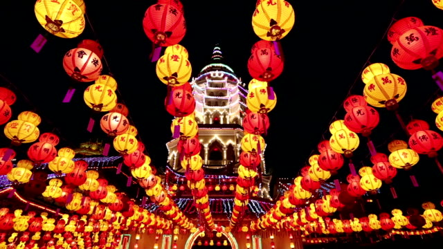 kek lok si chinese new year penang malaysia - penang stock videos and b-roll footage