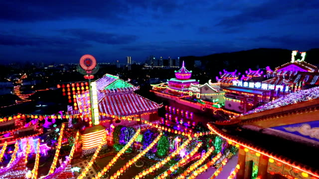 kek lok si temple chinese new year penang malaysia - chinese lantern festival stock videos and b-roll footage
