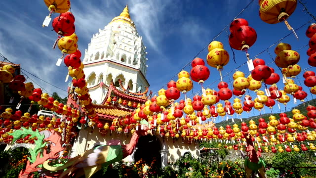 kek lok si temple chinese new year penang malaysia - penang stock videos and b-roll footage
