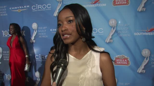 keke palmer on her favorite part of the show what the naacp means to her and how she won but she doesn't know where her award is at the 40th naacp... - naacp stock videos & royalty-free footage