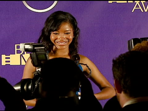 keke palmer winner outstanding performance by an actress in a leading role for 'akeela and at the 2006 tnt black movie awards press room at wiltern... - wiltern theater stock videos and b-roll footage