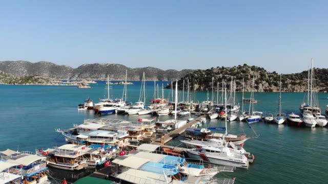 kekova marina. kaş, antalya, turkey - vista marina stock videos & royalty-free footage