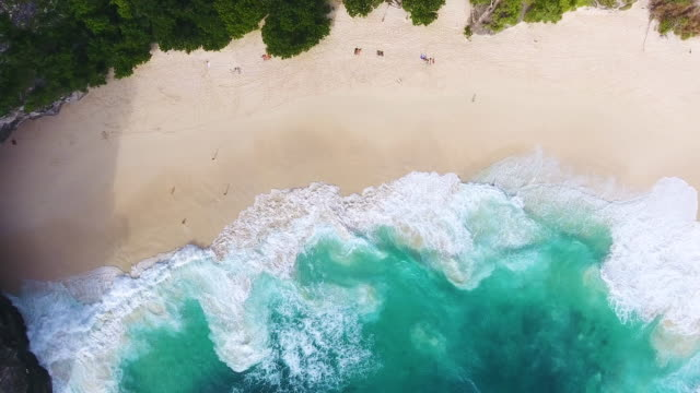 Vue aérienne de la plage Kelingking, Nusa Penida