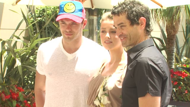 Kellan Lutz Amber Heard James Frain at the Wired Cafe at ComicCon at San Diego CA