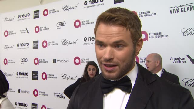 INTERVIEW Kellan Lutz at Elton John AIDS Foundation Presents 22nd Annual Academy Awards Viewing Party Sponsored By Chopard Neuro Drinks And Wells...