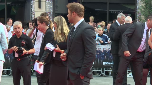 BROLL Kellan Lutz at 'The Expendables 3' World Premiere at Odeon Leicester Square on August 04 2014 in London England