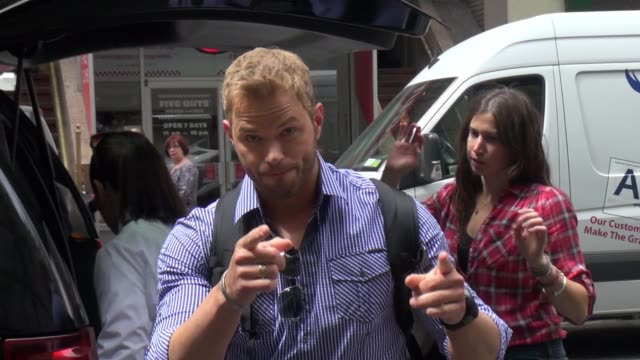 Kellan Lutz at 'TODAY' poses with fans on May 20 2015 in New York City