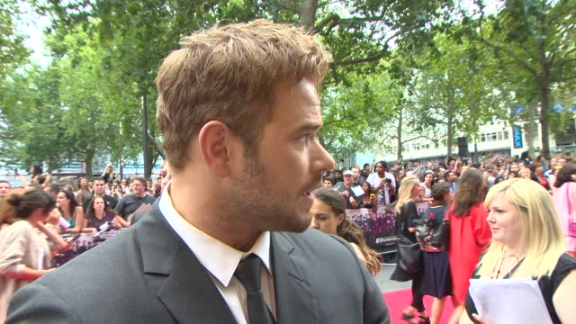 INTERVIEW Kellan Lutz on being at the premiere what it was like working with such a high profile cast at 'The Expendables 3' World Premiere at Odeon...