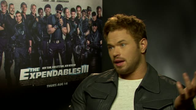 INTERVIEW Kellan Lutz on being in the limelight how he handles it at 'The Expendables 3' Interviews at Corinthia Hotel London on August 04 2014 in...