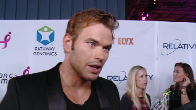 Kellan Lutz on supporting the cause and on how cancer has impacted his life at Pathway To The Cure For Breast Cancer A Fundraiser Benefiting Susan G...