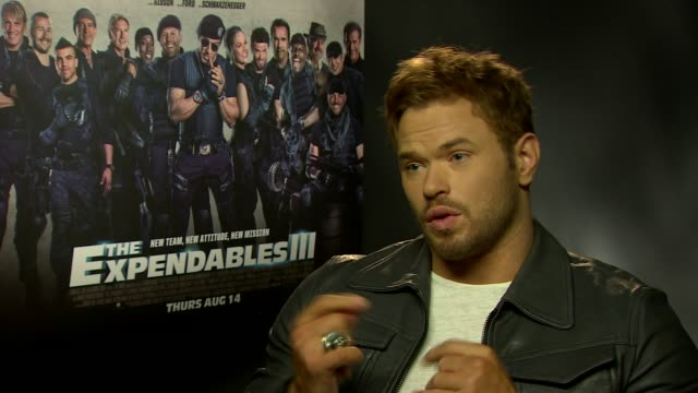 INTERVIEW Kellan Lutz on the achievements in his career how 'Twilight' helped his career at 'The Expendables 3' Interviews at Corinthia Hotel London...