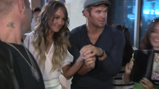 Kellan Lutz Sharni Vinson greet fans at the Step Up Revolution After Party in Hollywood 07/17/12