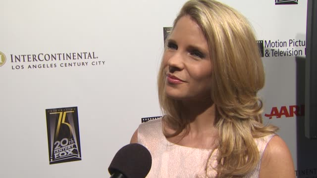 kelli o'hara on being involved with tonight's benefit on the first show she saw on broadway on her impression of broadway after seeing her first show... - broadway show stock videos and b-roll footage
