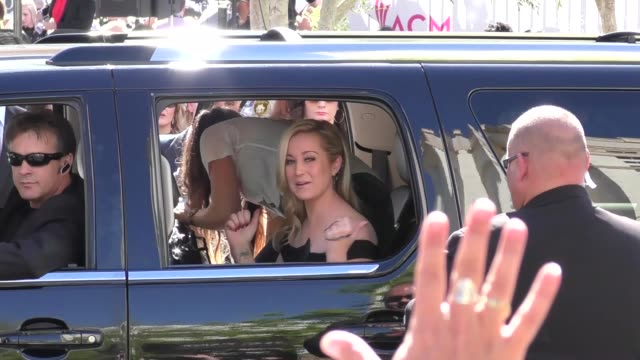kellie pickler arriving to the 52nd academy of country music awards in celebrity sightings in las vegas - kellie pickler stock videos & royalty-free footage