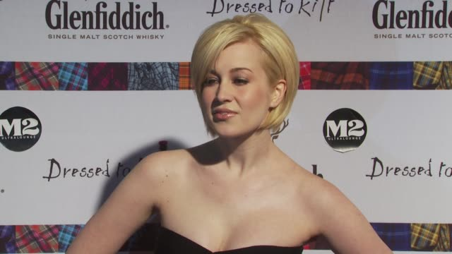 kellie pickler at the 8th annual 'dressed to kilt' charity fashion show at new york ny - kellie pickler stock videos & royalty-free footage