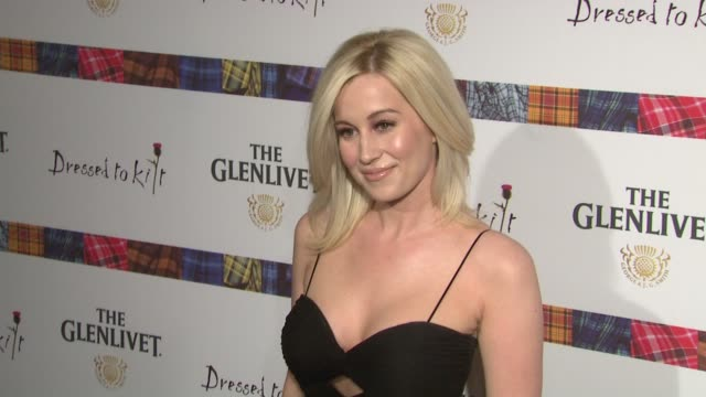 kellie pickler at the 9th annual dressed to kilt charity fashion show at new york ny - kellie pickler stock videos & royalty-free footage