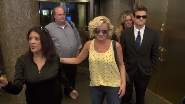 kellie pickler exits the nbc studios in rockefeller center and greets fans and photographers before leaving celebrity sightings in new york on august... - kellie pickler stock videos & royalty-free footage