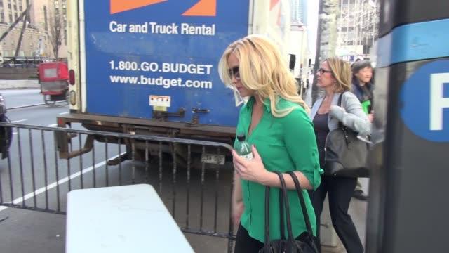 kellie pickler leaving the 'fox friends' show on april 18 2016 in new york city - kellie pickler stock videos & royalty-free footage