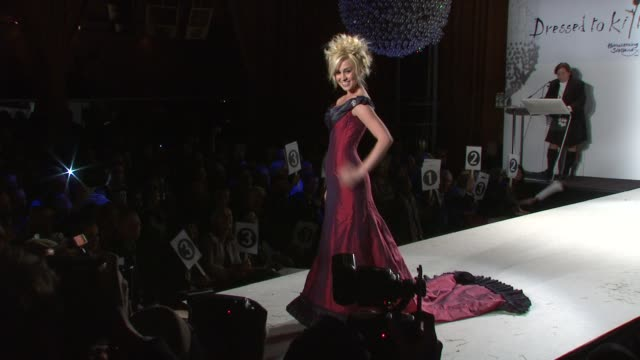 kellie pickler walks the runway at the 7th annual 'dressed to kilt' charity fashion show at new york ny - kellie pickler stock videos & royalty-free footage