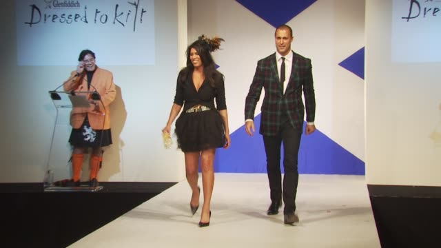 kelly bates and nigel barker at the 8th annual 'dressed to kilt' charity fashion show at new york ny - dressed to kilt stock videos & royalty-free footage