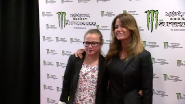 kelly bensimon at monster energy supercross world championship race at metlife stadium on april 26 2014 in east rutherford new jersey - world championship stock videos & royalty-free footage