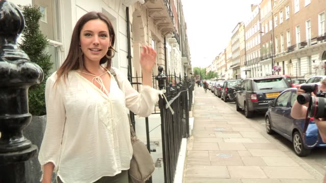 kelly brook at celebrity video sightings on august 12 2013 in london england - kelly brook stock-videos und b-roll-filmmaterial