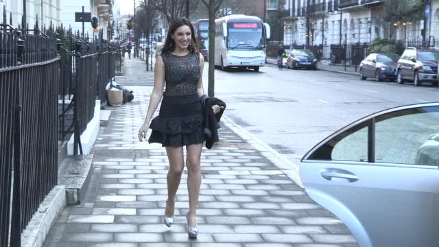 kelly brook at celebrity video sightings on march 13 2013 in london england - kelly brook stock-videos und b-roll-filmmaterial