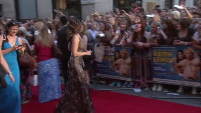 uk premiere at odeon leicester square on august 20 2012 in london england - kelly brook stock-videos und b-roll-filmmaterial