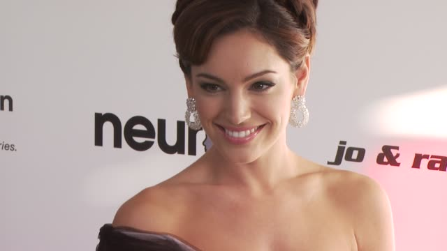 kelly brook at the 18th annual elton john aids foundation oscar party at west hollywood ca - kelly brook stock-videos und b-roll-filmmaterial