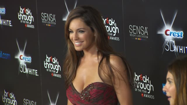 kelly brook at the 2010 breakthrough of the year awards at west hollywood ca - kelly brook stock-videos und b-roll-filmmaterial