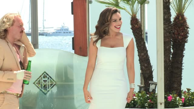 kelly brook keith lemon pose for photographers to promote their new movie keith lemon the film photo call kelly brook keith lemon at martinez hotel... - kelly brook stock-videos und b-roll-filmmaterial
