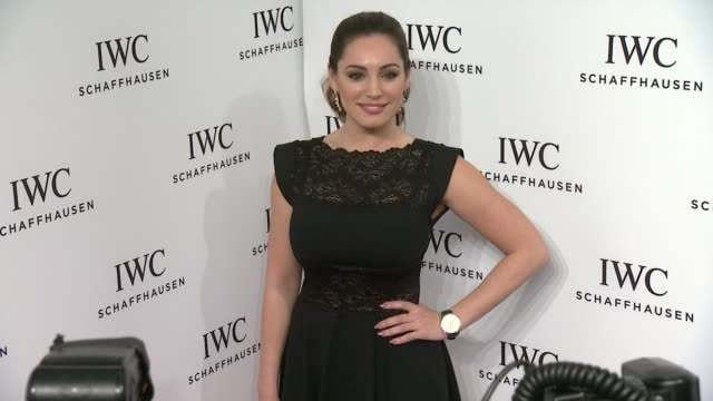 interview kelly brook talks about her new sitcom one big happy at iwc schaffhausen third annual for the love of cinema dinner during tribeca film... - kelly brook stock-videos und b-roll-filmmaterial