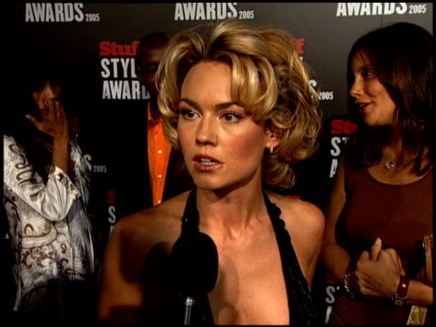 Kelly Carlson at the 2005 Stuff Style Awards Arrivals at the Roosevelt Hotel in Hollywood California on September 7 2005