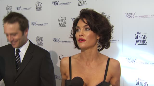 Kelly Carlson on the event dogs the honoree at the 24th Genesis Awards at Beverly Hills CA