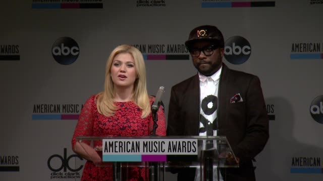 kelly clarkson announces the favorite soul/rb album at the 2013 american music awards nominations press conference at bb king blues club grill on... - soul music stock videos & royalty-free footage