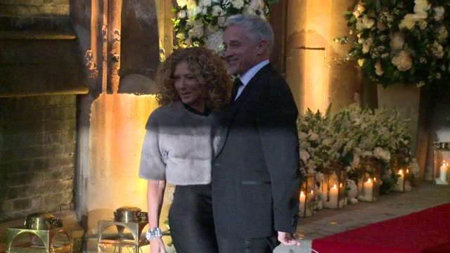kelly hoppen at st paul's church on december 20, 2015 in london, england. - christine bleakley stock videos & royalty-free footage