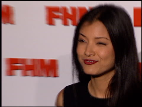 Kelly Hu at the FHM Magazine 100 Sexiest Women at La Boheme in West Hollywood California on May 17 2001