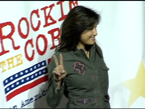 kelly hu at the rockin' the corp an american thank you celebration concert for us marines at camp pendelton marine base in oceanside california on... - oceanside stock videos and b-roll footage
