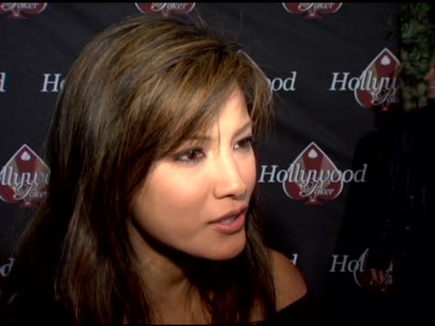 stockvideo's en b-roll-footage met kelly hu on playing a little bit of poker on why there is a poker trend happening on being too scared to play online because she might lose her money... - publiciteitsmedewerker